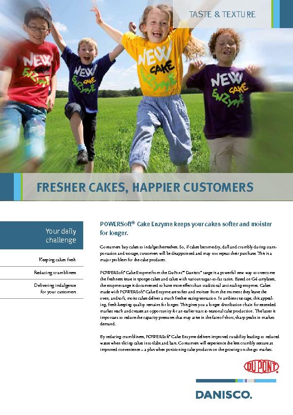 Consumers buy cakes to indulge themselves. So, if cakes become dry, du PowerPoint PPT Presentation