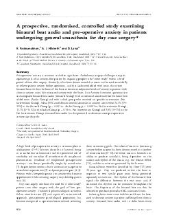 A prospective randomised controlled study examining binaural beat audio and preoperative anxiety in patients undergoing general anaesthesia for day case surgery R