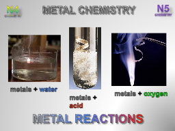 METAL REACTIONS PowerPoint PPT Presentation