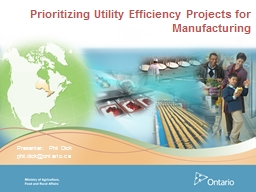 Prioritizing Utility Efficiency Projects for Manufacturing PowerPoint PPT Presentation