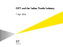 GST and the Indian Textile Industry PowerPoint PPT Presentation
