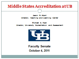 Middle States Accreditation at UB PowerPoint PPT Presentation