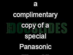 As part of your DIMager purchase you are entitled to a complimentary copy of a special Panasonic edition of the Omek Beckon Development Suite