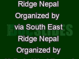 via South East Ridge Nepal Organized by  via South East Ridge Nepal Organized by Kolkata West Bengal