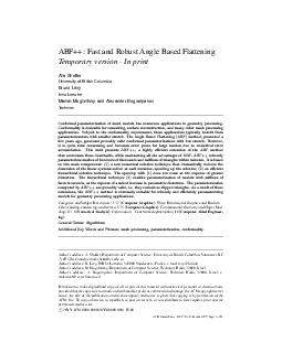 ABF Fast and Robust Angle Based Flattening Temporary version  In print Alla Shef PDF document - DocSlides