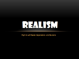 Right & Left Realist: Explanations and Solutions