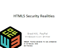 HTML5 Security Realities PowerPoint PPT Presentation
