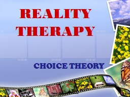 Reality Therapy in School