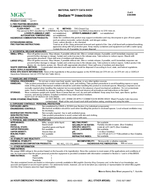 MATERIAL SAFETY DATA SHEET MGK  Bedlam Insecticide McLaughlin Gormley King Company  of   PRODUCT CODE   HOUR EMERGENCY PHONE CHEMTREC  ALL OTHER AREAS