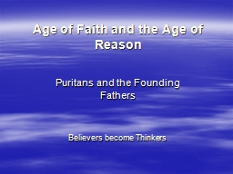 Age of Faith and the Age of