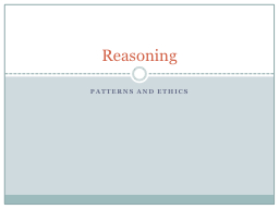Patterns and Ethics