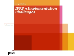IFRS 9 Implementation Challenges
