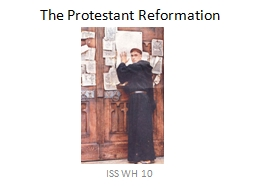 The Protestant Reformation PowerPoint PPT Presentation