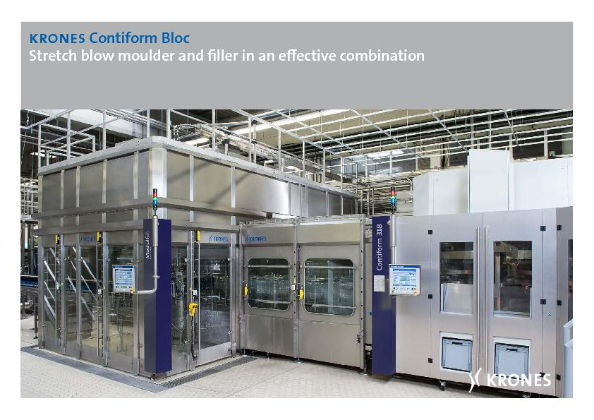 Contiform Bloc Stretch blow moulder and ller in an eective co