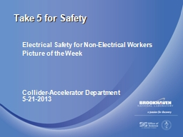 Electrical Safety for Non-Electrical Workers PowerPoint PPT Presentation