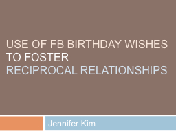 use OF FB BIRTHDAY WISHES