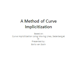 A Method of Curve