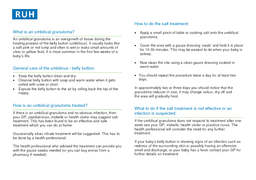 Further information This leaflet was produced by the paediatric department at the RUH Bath and is based on that used by North Bristol Healthcare Trust and information published by The NHS institute f