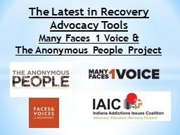 The Latest in Recovery Advocacy Tools