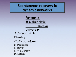 Spontaneous recovery in dynamic networks