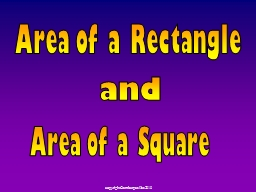 Area of a Square PowerPoint PPT Presentation