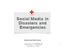 0 Social Media in Disasters and Emergencies
