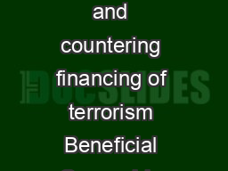 AMLCFT Antimoney laundering and countering financing of terrorism Beneficial Ownership Guideline December    Introduction