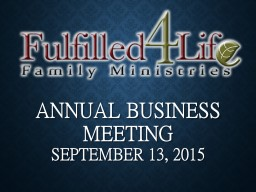 Annual Business Meeting PowerPoint PPT Presentation