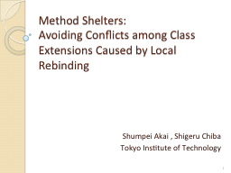 Method Shelters: PowerPoint PPT Presentation