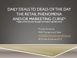 Daily Deals PowerPoint PPT Presentation