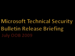 Microsoft Technical Security
