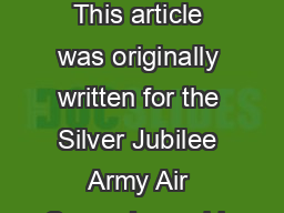 Why the Light Blue Beret This article was originally written for the Silver Jubilee Army Air Corps Journal in PowerPoint PPT Presentation