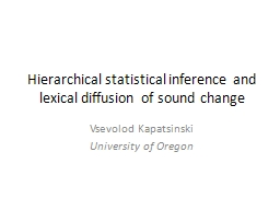 Hierarchical statistical inference and lexical diffusion of