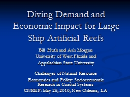 Diving Demand and Economic Impact for Large Ship Artificial