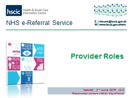 NHS e-Referral Service PowerPoint PPT Presentation
