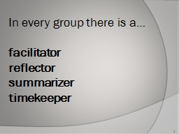 In every group there is a…