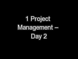 1 Project Management – Day 2