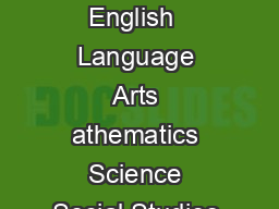 ISTEP Cut Scores English  Language Arts athematics Science Social Studies Grade  PDF document - DocSlides