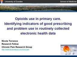 Opioids use in primary care.
