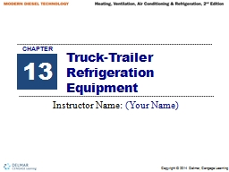Truck-Trailer Refrigeration Equipment