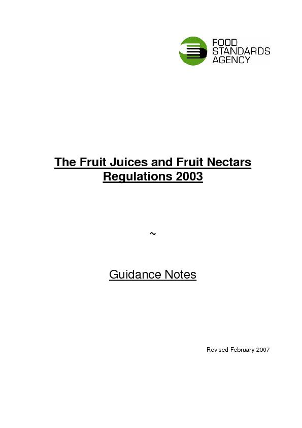 The Fruit Juices and Fruit Nectars