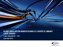 Plant Simulation Warehousing & Logistics