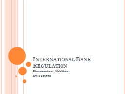 International Bank Regulation