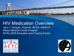 HIV Medication Overview PowerPoint PPT Presentation