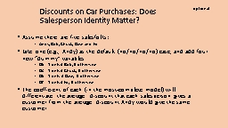 Discounts on Car Purchases: Does Salesperson Identity Matte