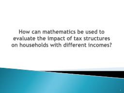 How can mathematics be used to evaluate the impact of tax s