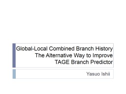 Global-Local Combined Branch History