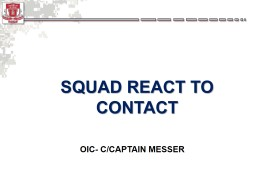 SQUAD REACT TO CONTACT PowerPoint PPT Presentation