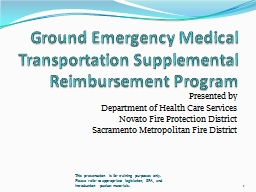 Ground Emergency Medical Transportation Supplemental Reimbu