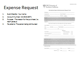 Expense Request PowerPoint PPT Presentation